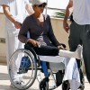 Halle Berry In a Wheelchair!!! Leg In A Cast
