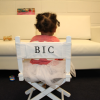 Blue Ivy Carter sits in her very own monogrammed director's chair while on tour with mom Beyonce