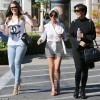 While Kim lays in the hospital; sisters and mom do frozen yogurt in Calabasas