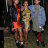 Jada Pinkett Smith poses with her kids Willow Smith & Jaden Smith at Balmain designer Olivier Rousteing's 30th birthday bash in LA