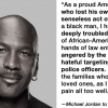 "Michael Jordan: ""I Can No Longer Stay Silent"" On Shootings Of African-Americans And Police Officers."