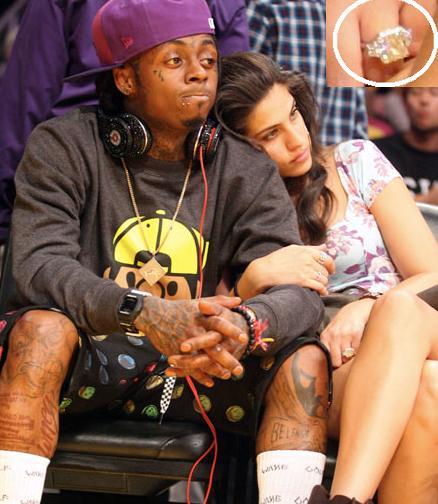 Lil Wayne's Girl Flashes Massive $1Million Engagement Ring ...