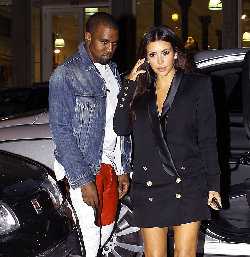 Kim Kardashian and Kanye West Head To Jacob Jewelry In NYC.